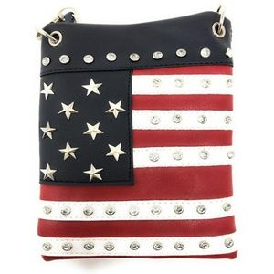 Handbags - American Flag Mini Messenger Bag Crossbody Purse